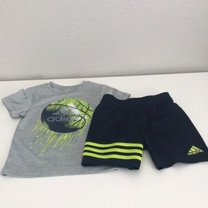 Infant Adidas shirtabd Shorts set.